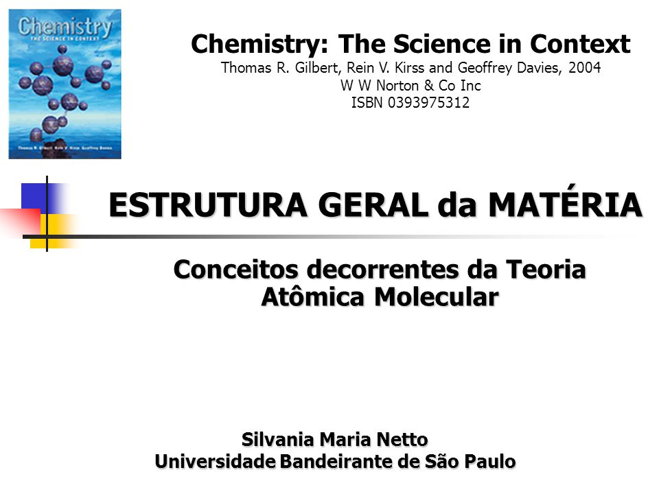 Conceitos decorrentes da Teoria Atômica Molecular