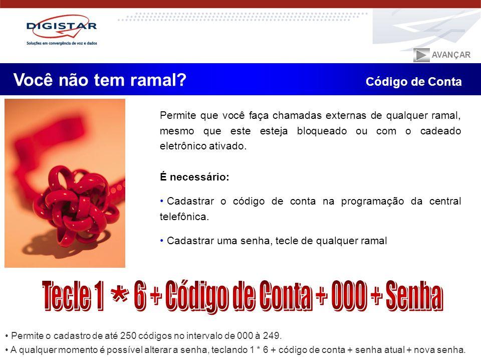 Tecle 1 6 + Código de Conta + 000 + Senha