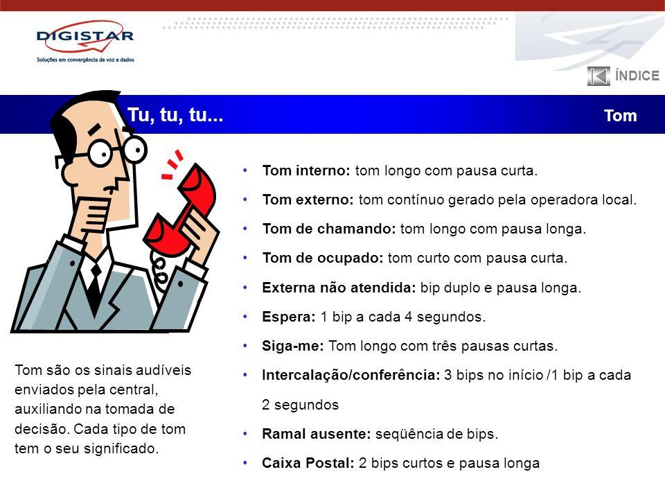 Tu, tu, tu... Tom Tom interno: tom longo com pausa curta.