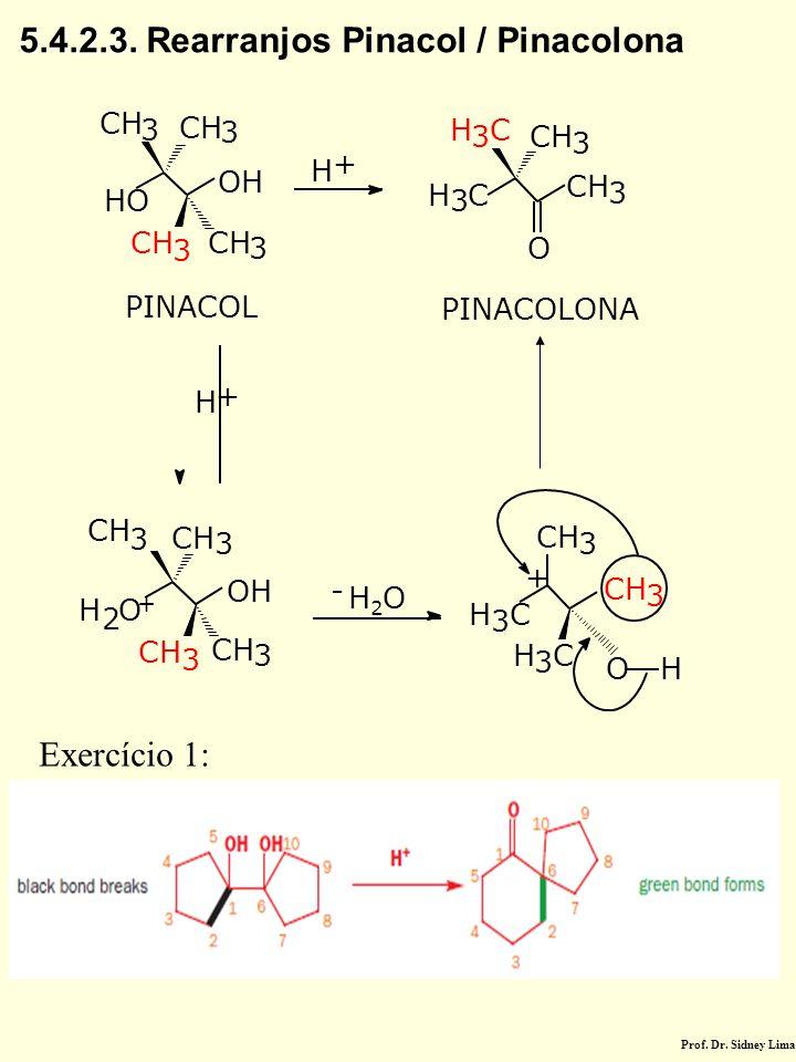 5.4.2.3. Rearranjos Pinacol / Pinacolona