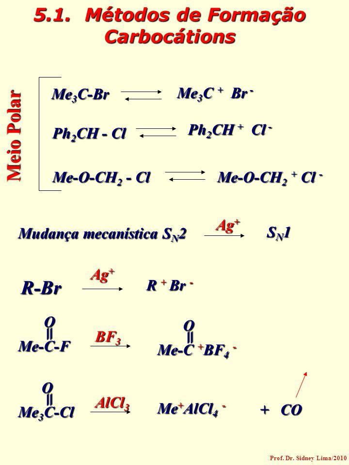 5.1. Métodos de Formação Carbocátions