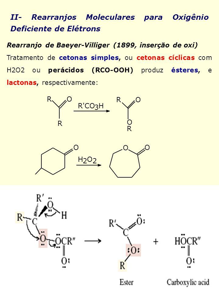 II- Rearranjos Moleculares para Oxigênio Deficiente de Elétrons