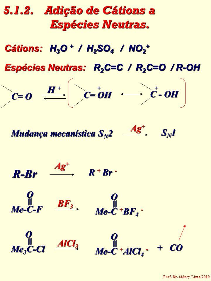 = = = = 5.1.2. Adição de Cátions a Espécies Neutras. R-Br