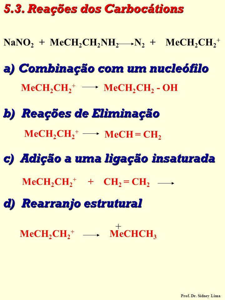 5.3. Reações dos Carbocátions