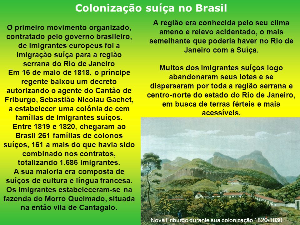 Colonização suíça no Brasil