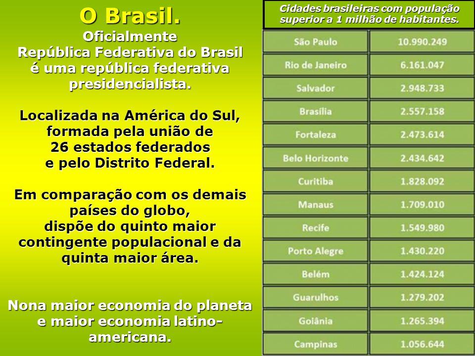 O Brasil. Oficialmente República Federativa do Brasil