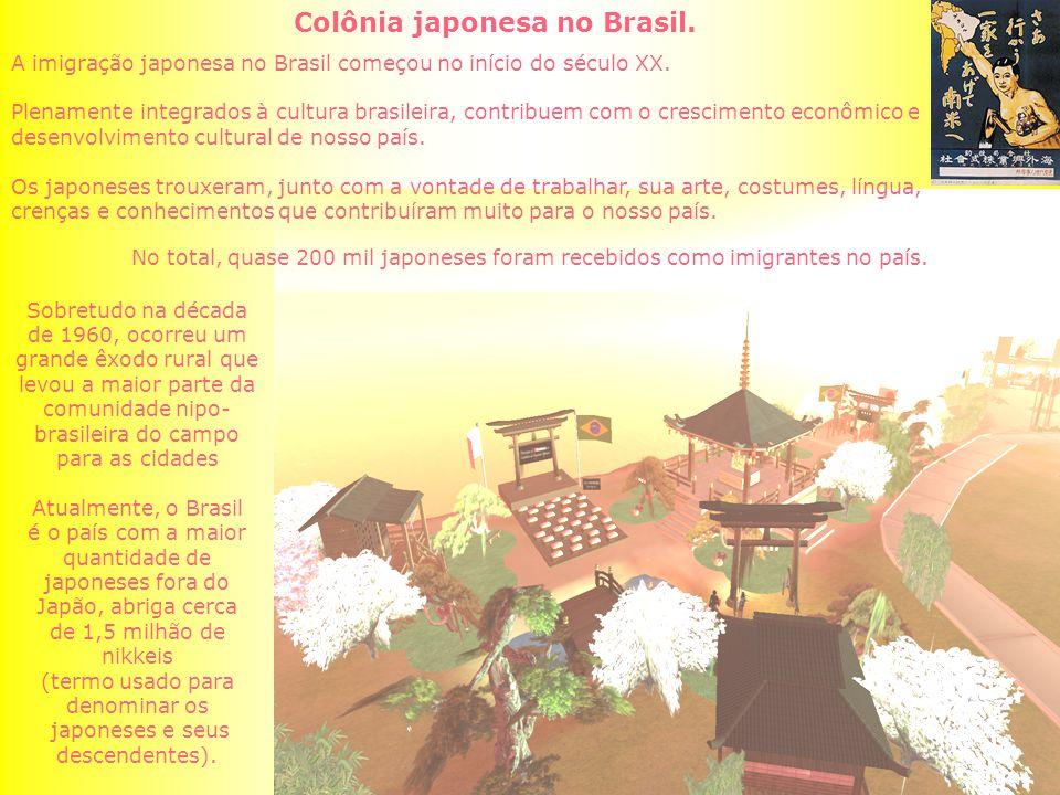 Colônia japonesa no Brasil.