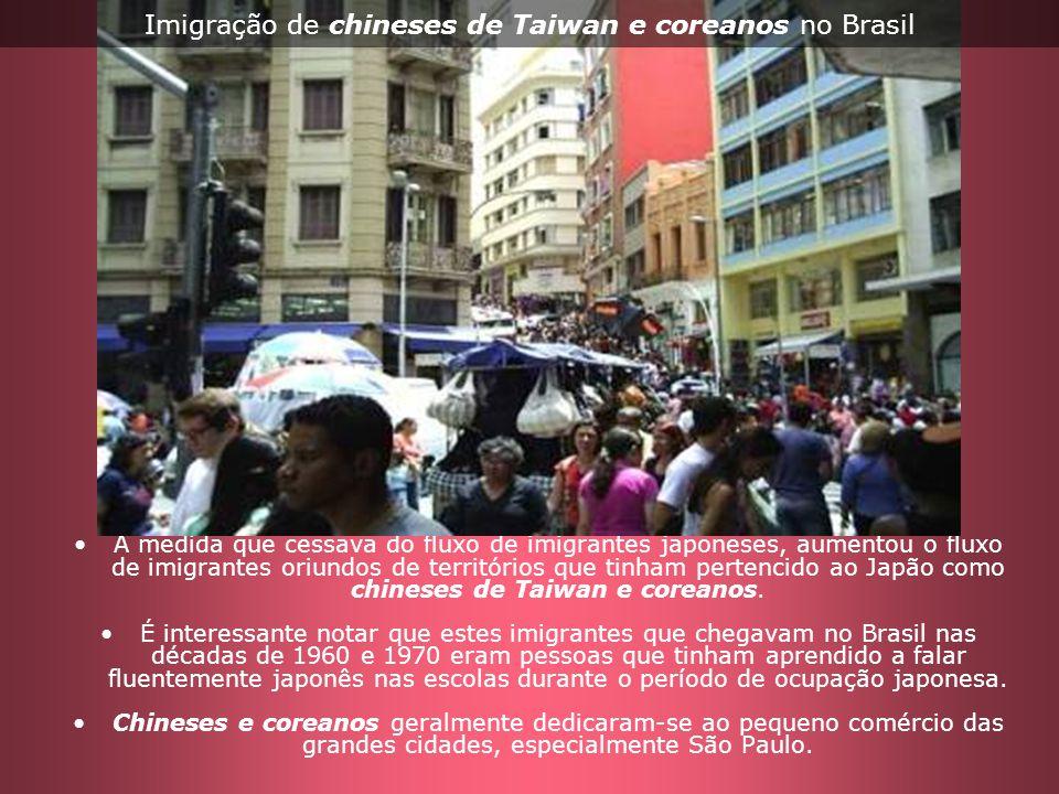 Imigração de chineses de Taiwan e coreanos no Brasil
