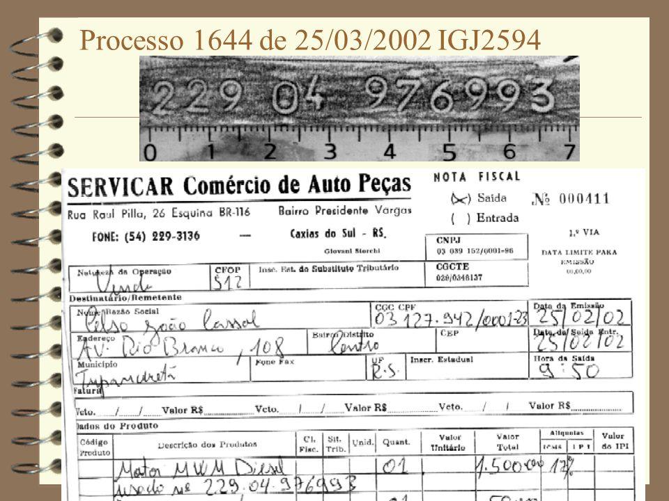 Processo 1644 de 25/03/2002 IGJ2594