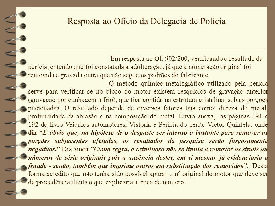 Resposta ao Ofício da Delegacia de Polícia