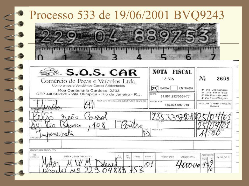 Processo 533 de 19/06/2001 BVQ9243