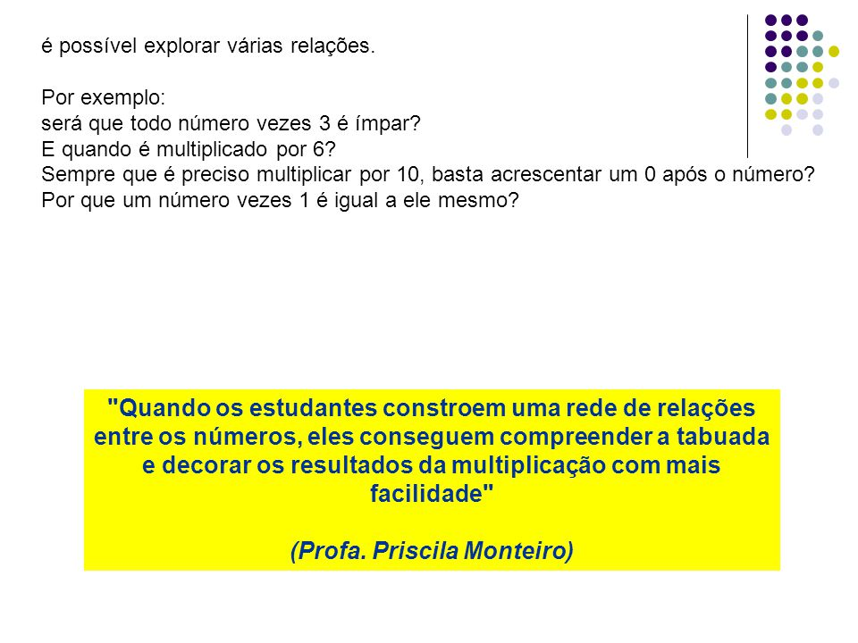 (Profa. Priscila Monteiro)