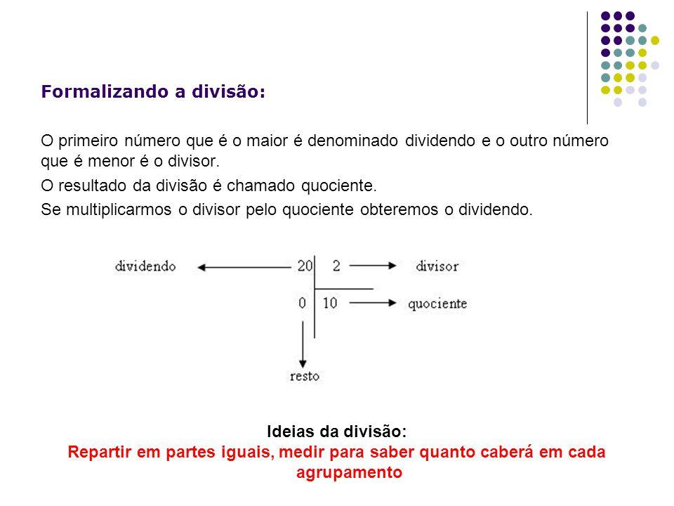 Formalizando a divisão: