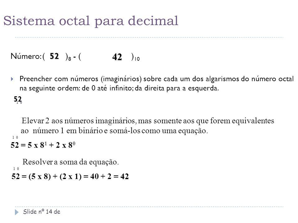 Sistema octal para decimal