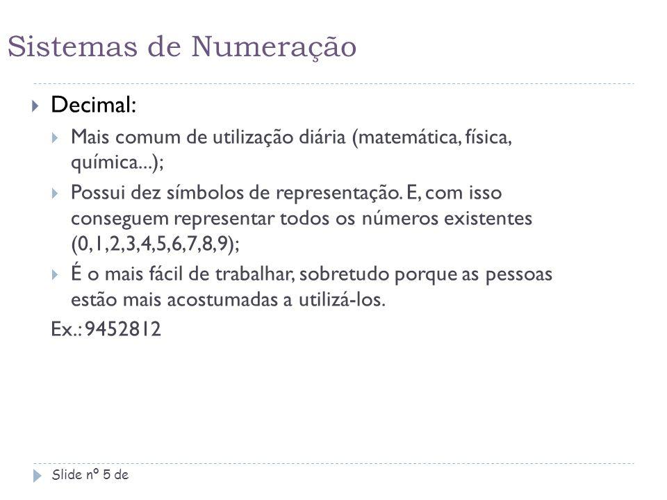 Sistemas de Numeração Decimal: