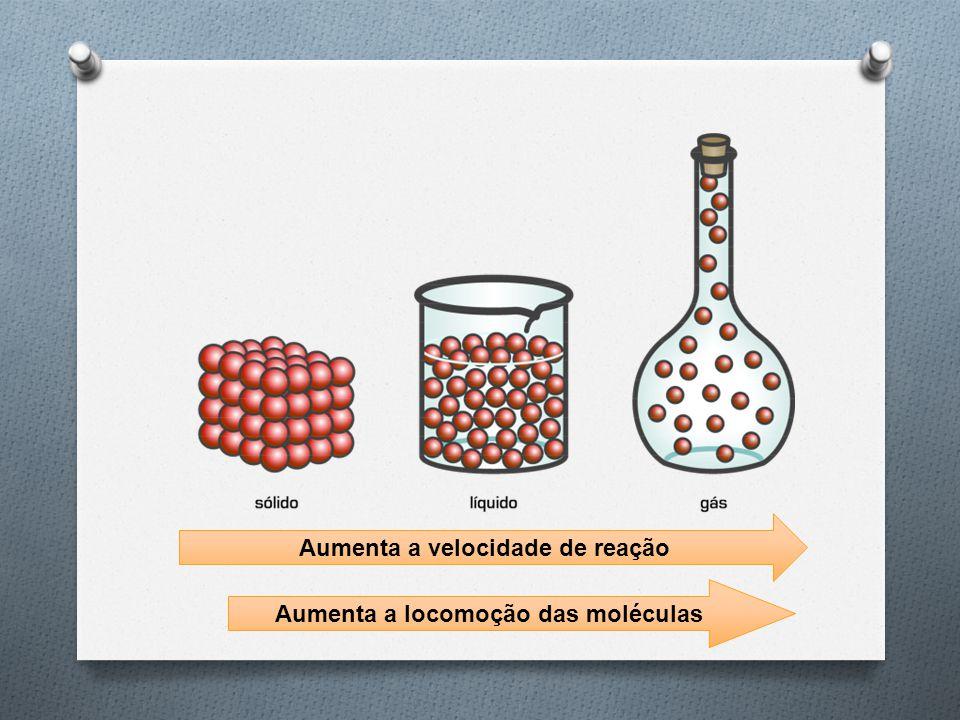 Aumenta a velocidade de reação Aumenta a locomoção das moléculas