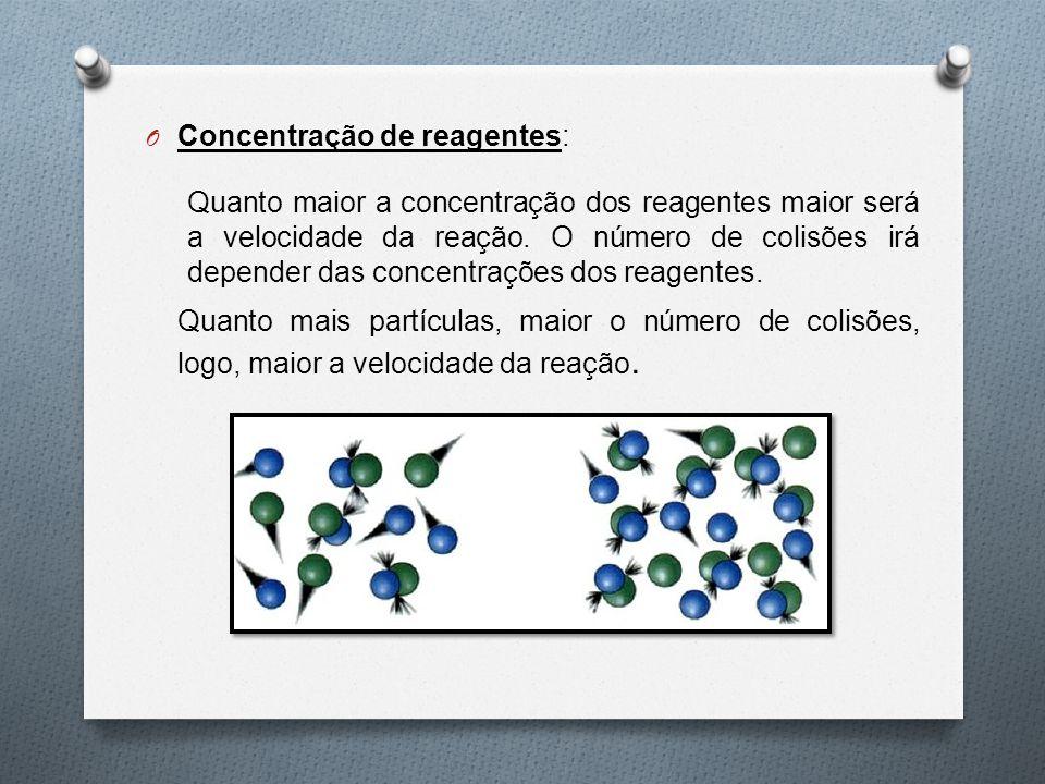 Concentração de reagentes: