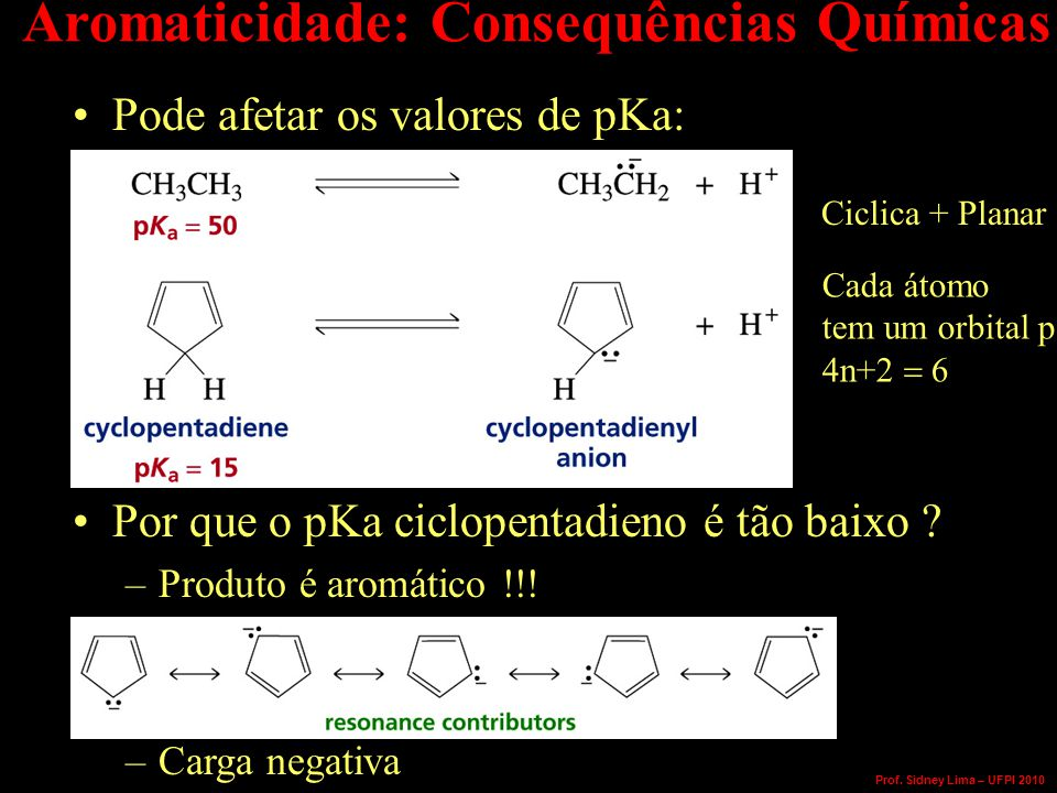 Aromaticidade: Consequências Químicas