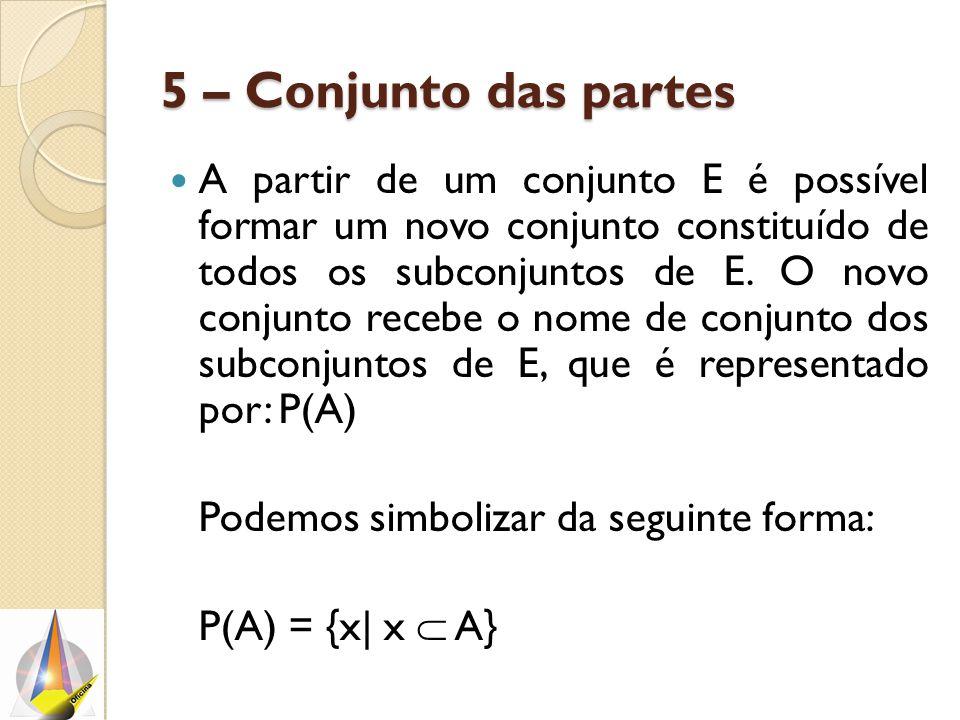 5 – Conjunto das partes