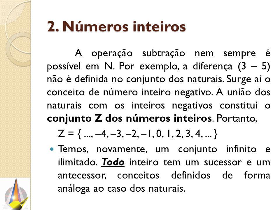 2. Números inteiros