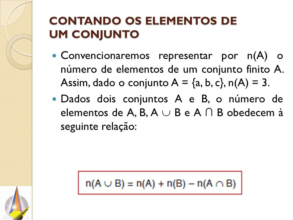 Contando os elementos de um conjunto