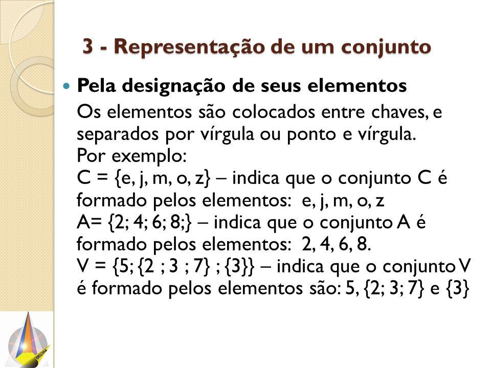 3 - Representação de um conjunto