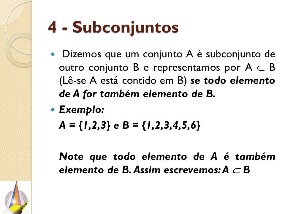 4 - Subconjuntos