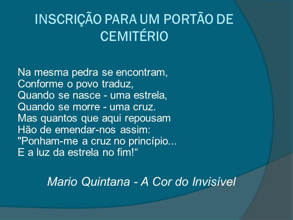 INSCRIÇÃO PARA UM PORTÃO DE CEMITÉRIO
