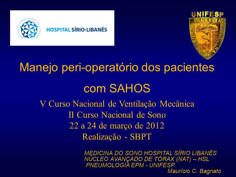 Manejo peri-operatório dos pacientes com SAHOS