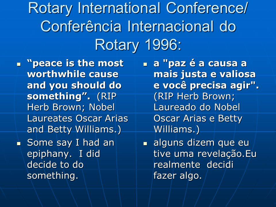 Rotary International Conference/ Conferência Internacional do Rotary 1996: