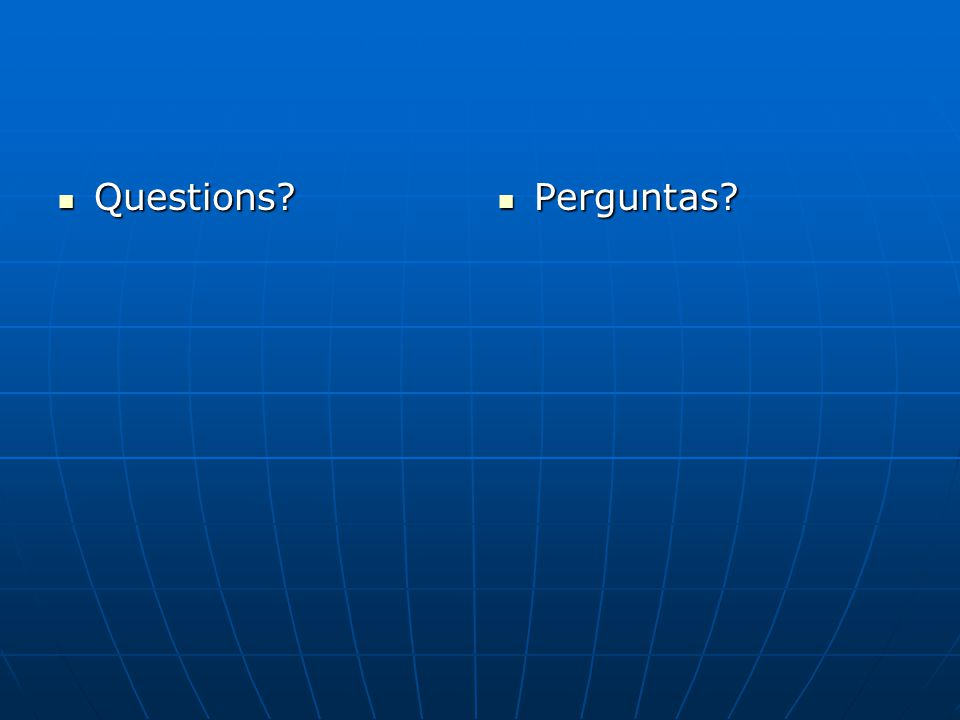 Questions Perguntas