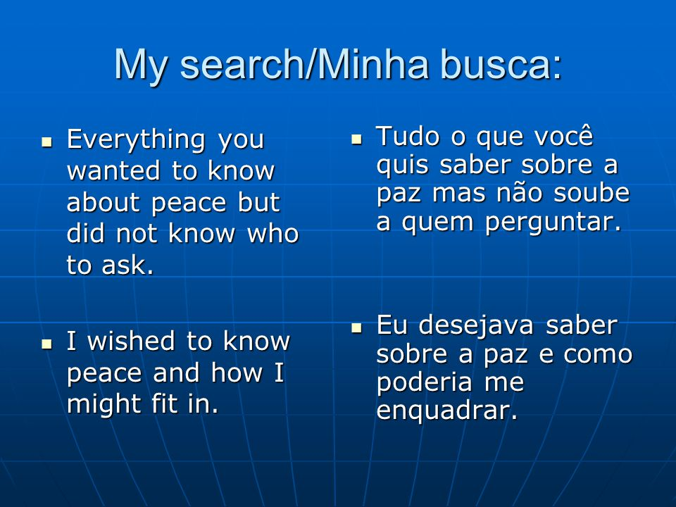 My search/Minha busca: