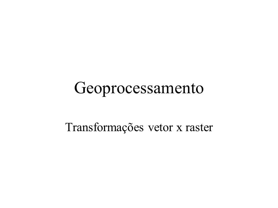 Transformações vetor x raster