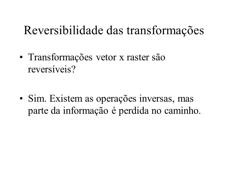 Reversibilidade das transformações
