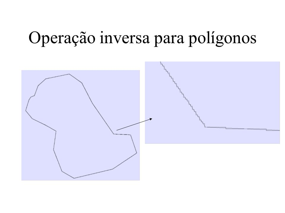 Operação inversa para polígonos
