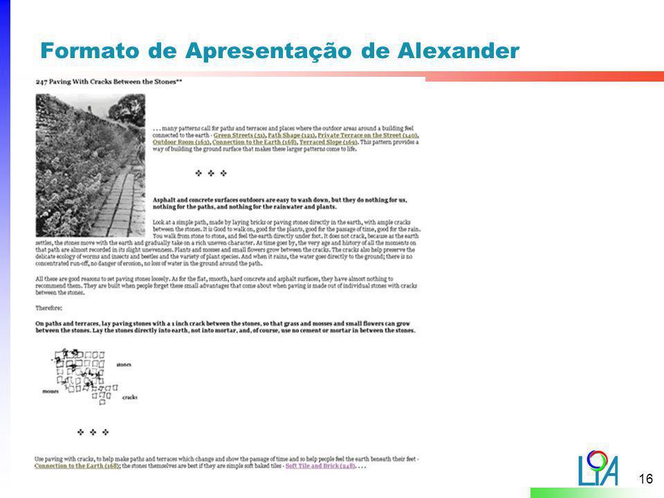 Formato de Apresentação de Alexander