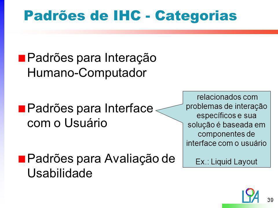 Padrões de IHC - Categorias