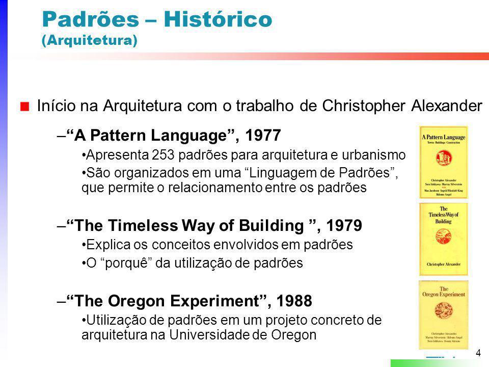 Padrões – Histórico (Arquitetura)