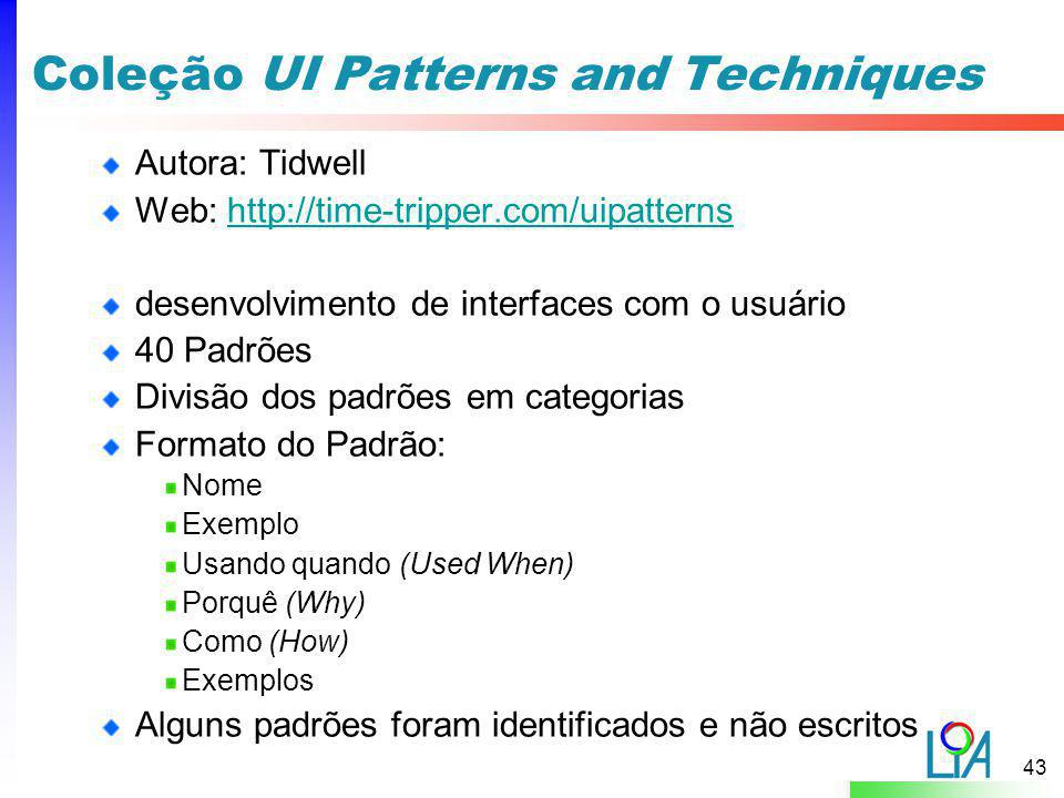 Coleção UI Patterns and Techniques