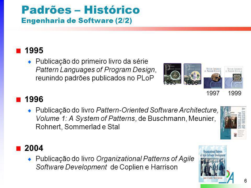 Padrões – Histórico Engenharia de Software (2/2)