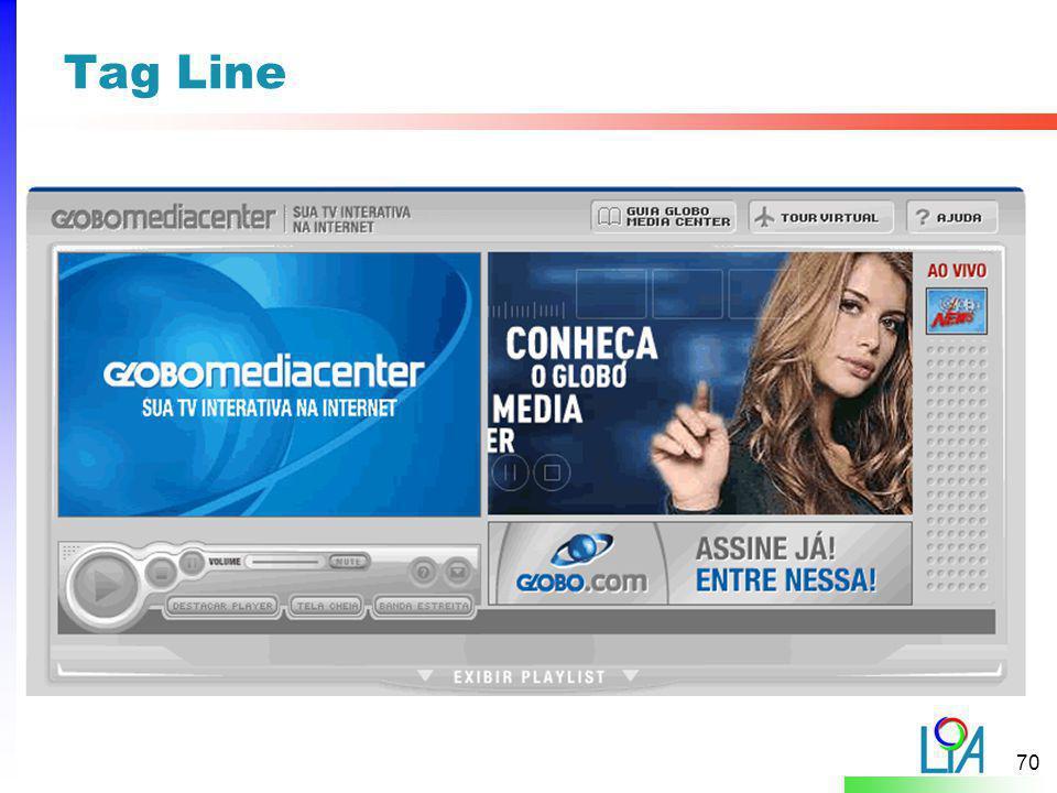 Tag Line A Cor da linha dependerá da categoria a qual o padrão pertence, tipo: Web Sites level = Vermelho.
