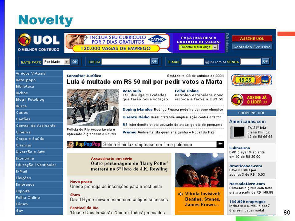 Novelty A Cor da linha dependerá da categoria a qual o padrão pertence, tipo: Web Sites level = Vermelho.