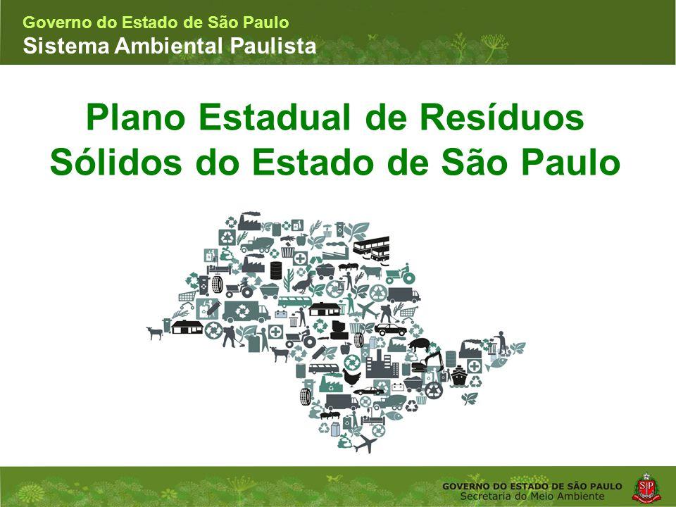 Plano Estadual de Resíduos Sólidos do Estado de São Paulo