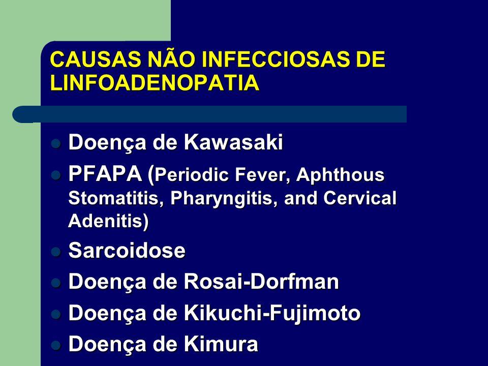 CAUSAS NÃO INFECCIOSAS DE LINFOADENOPATIA