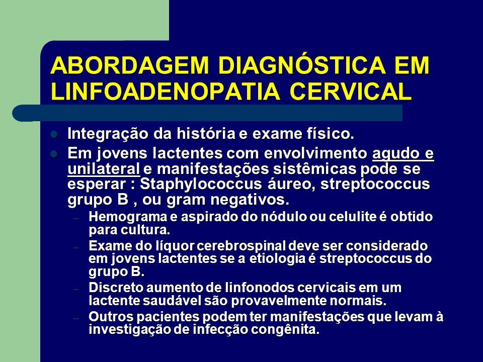 ABORDAGEM DIAGNÓSTICA EM LINFOADENOPATIA CERVICAL