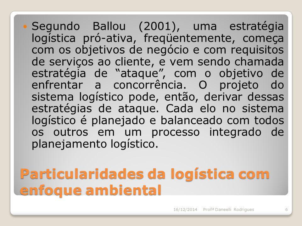 Particularidades da logística com enfoque ambiental