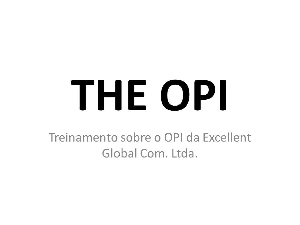 Treinamento sobre o OPI da Excellent Global Com. Ltda.
