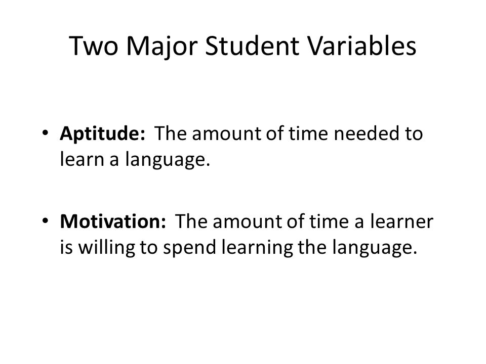 Two Major Student Variables
