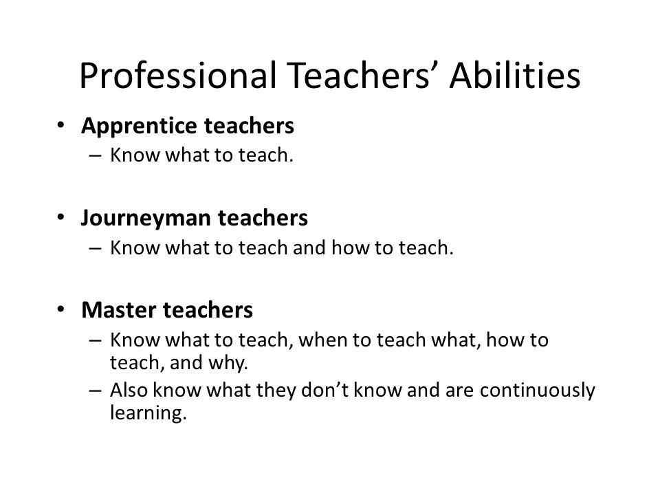 Professional Teachers' Abilities