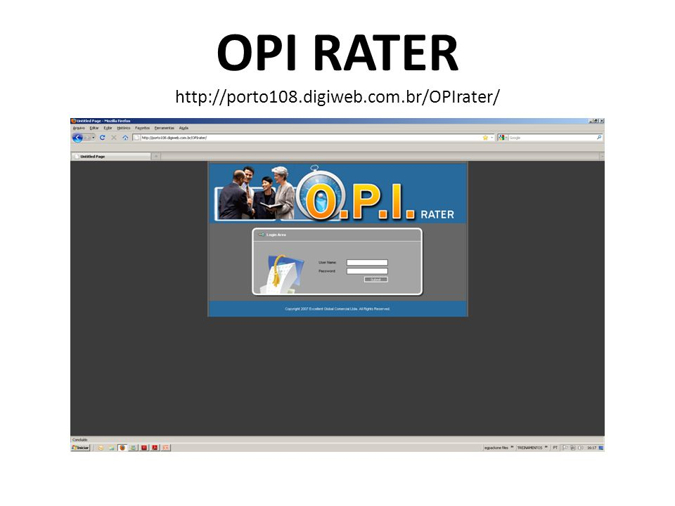 OPI RATER http://porto108.digiweb.com.br/OPIrater/